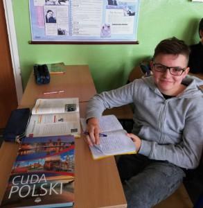 Kamil Całus - III miejsce w Powiatowym Konkursie Historycznym